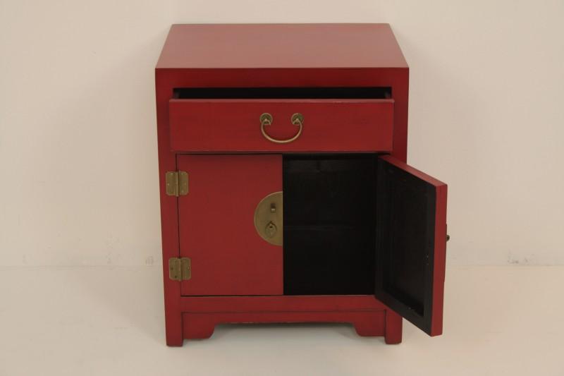 Nachtkastje 2 deuren 1 lade rood de woerd - Moderne nachtkastje ...