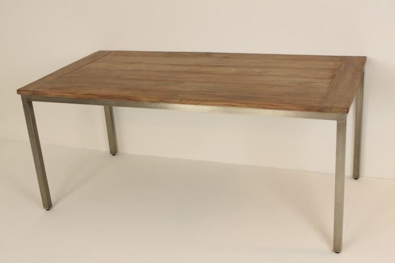 Eettafel loyd met ijzer onderstel de woerd - Glazen tafel gesmeed ijzer en stoelen ...