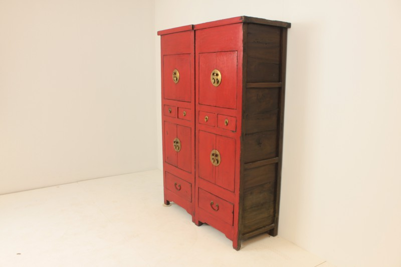 Oude Chinese Kast Set 2