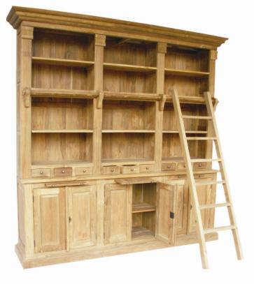 boekenkast met trap - De Woerd